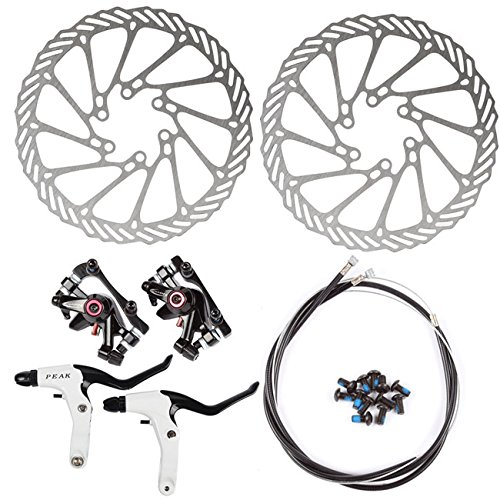 NV-5 Fahrrad Scheibenbremse Umbau G3 160mm 2xScheiben 2xBremse V&R Bike Disc Brake *Schwarz*
