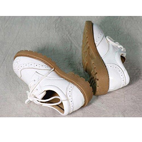 Scothen Baby Mokassins Krippe Schuhe Lederpuschen Hausschuhe Kindergartenschuhe Krabbelschuhe Schläppchen Lauflernschuhe Baby Junge Krippe Schuhe Kleinkind Gentleman Elegante Party Schuhe Weiß