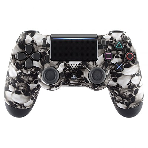 eXtremeRate PS4 Controller Hülle Schutzhülle Case Obere Cover Oberschale Gehäuse Skin Schale für Playstation 4 PS4 Slim PS4 Pro Controller JDM-040 JDM-050 JDM-055(Totenköpfe) - Playstation 4 Gehäuse