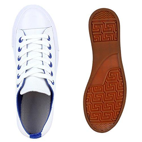 d6b0b88e06 Damen Sneakers Low Bunte Ösen Freizeit Canvas Schuhe Weiß -sicotec ...