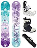 Airtracks SNOWBOARD SET - BOARD AKASHA LADY 150 - SOFTBINDUNG MASTER W - SOFTBOOTS STAR W 41 - SB BAG