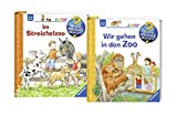 Ravensburger Junior Bücher Set - Wieso? Weshalb? Warum? Wir gehen in den Zoo und Im Streichelzoo