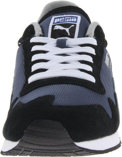Puma Cabana Mesh Sport Hommes Synthétique Baskets Black-White-Blue-Gray