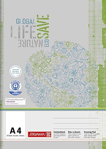 Brunnen 104794401 Zeichenblock (A4 mit 20 Blatt)