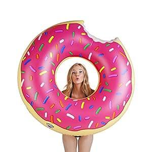 Bigmouth Inc bouée Donut gigantesque piscine (Fraise givrée avec éclats)