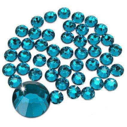 Jollin Kristalle Flacher Rückseite Strasssteine Glas Glitzersteine Nagelkunst Edelsteine Runde Diamant Gems, Blauer Zirkonia, SS20 576pcs (Rückseite Edelsteine Blaue Flache)