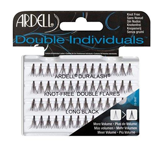 falsche wimpern einzeln Ardell Double Individuals Long, das Original (Knot Free) black, 1er Pack (1 x 56 Stück)