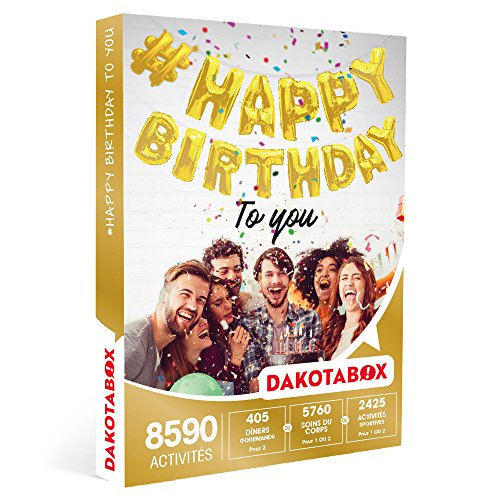 DAKOTABOX - Coffret Cadeau - #HAPPY BIRTHDAY TO YOU - Dîners gourmands, activités...