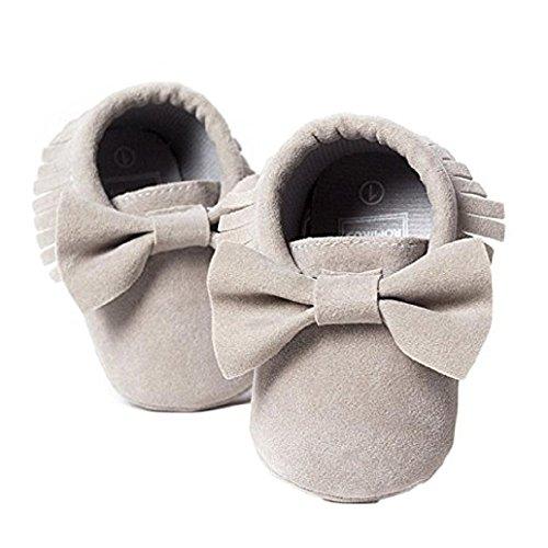 Pu Ran® , Baby Mädchen Lauflernschuhe Grau