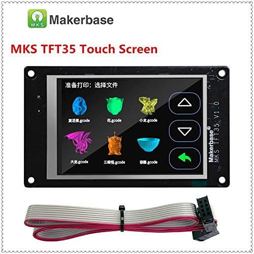 3Dman MKS TFT28 TFT32 TFT35 V4.0 Vollfarb-Touchscreen, 7,1 cm, unterstützt Marlin/Smoothieware/Repetier mit WLAN-Modul, APP, Cloud Printing für 3D-Drucker-Bauteile, TFT35, 1