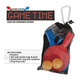 Ping Pong Game Time Clip-On Portable Spo...