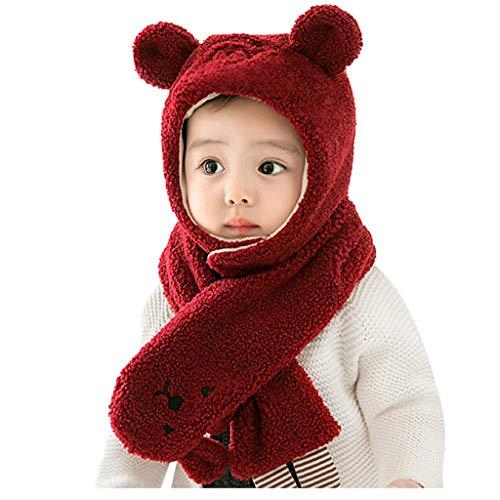 Ucoolcc Kleinkind Baby Mädchen Jungen Winter Warm Strickmütze Schal Set Warm halten Männlicher und weiblicher Babywollhut Baby Schal Mütze Set