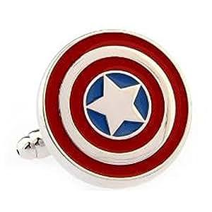 Silver Smith - Licence Officielle Marvel Comics Captain America Shield Boutons De Manchette