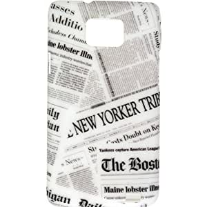 Akashi ALTCSG272801BSH Newspapers Coque pour Samsung Galaxy S2