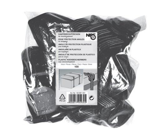 NIPS 140882001 KANTENSCHUTZECKEN, 100er Packung, schwarz