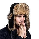 Ferand Cappello Unisex Adulto Trapper con... - Abbigliamento. Ottobre 2018  Ferand. Ferand Cappello Unisex Adulto Trapper con Pelliccia di Coniglio  para Sci ... 90ca9419b164