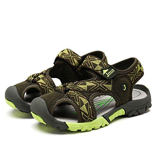 SITAILE Jungen Mädchen Geschlossene Sandalen Sommer Outdoor Sports Schuhe Flach Walkingschuhe Grün