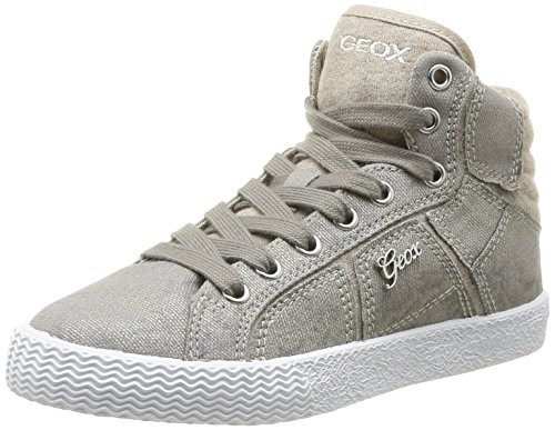 Geox J Smart G B, Baskets mode fille Beige
