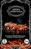 Anna Coconut Shell Charcoal (Less Smoke) Briquettes 5 Kg/Export Quality for Barbecue/Angeethi (Used in Grilling/Barbecue…