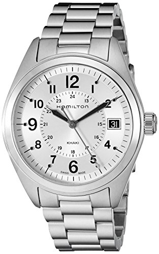 Hamilton Men's H68551153 Khaki Field Analog Display Swiss Quartz Silver Watch