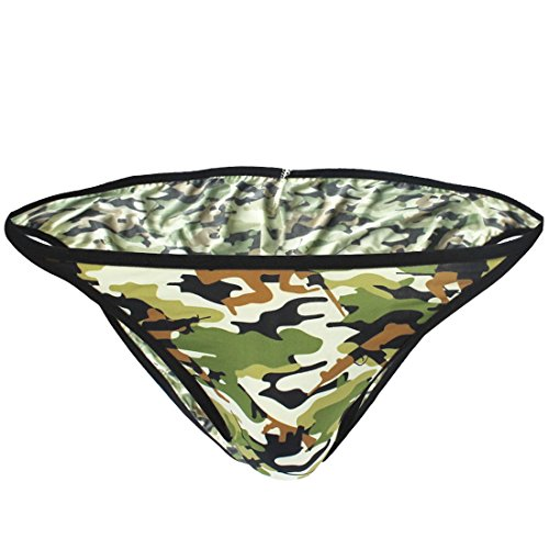 "EFE #S-L Sous-vêtement Strings Bikini Camouflage Slips Taille basse Extensible pour Homme (M(Taille:26.0-36.0""/66-92cm), Vert) EFE"