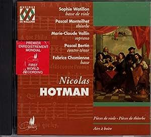 Hotman: Pièces de viole - Pièces de théorbe