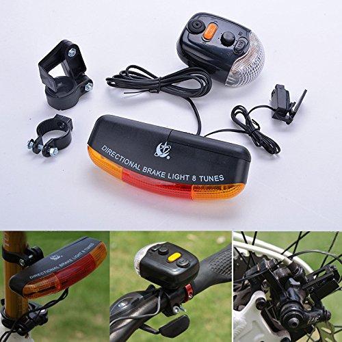Zantec Tour Signal de frein de vélo 7 8-tune Corne lumière Luminaire d'extérieur (piles non incluses)