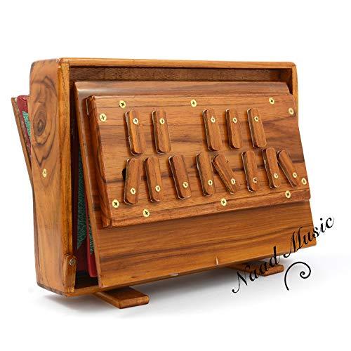 Shrutibox Naad Music by BINA, Original aus Indien, Versand aus Deutschland, getestet und geprüft!, C-C, 13 Stops, 440HZ, Meditationsmusik, Stimmtraining, Shruti Box