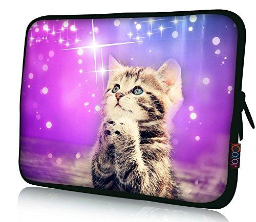 iColor neopreno resistente al agua funda blanda para portátil bolso de la bolsa con Multi fotos para gama tamaño 10'12.1' 13.3'a 15,6' 17,3'Pro/HP/Acer/Dell/Asus/Samsung portátil 005Cat 11.6'~12.1'