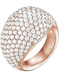 ESPRIT Damen-Ring Medea Messing rhodiniert Zirkonia weiß Rundschliff Gr. 57 (18.1)