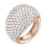 ESPRIT Glamour Damen-Ring ES-MEDEA ROSE teilvergoldet Zirkonia transparent Gr. 57 (18.1) - ESRG02034C180
