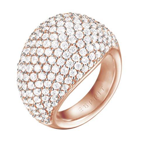 ESPRIT Glamour Damen-Ring ES-MEDEA ROSE teilvergoldet Zirkonia transparent Gr. 60 (19.1) - ESRG02034C190