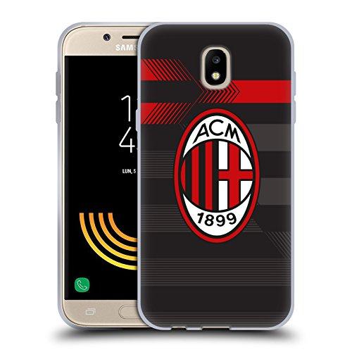 Head Case Designs Ufficiale AC Milan Terza Maglia 2018/19 Kit Cresta Cover in Morbido Gel Compatibile con Samsung Galaxy J5 (2017)
