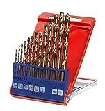 kwb HSS-E Metallbohrer-Satz – Bohrer-Set, 13-teilig, Ø 1,5 bis 6,5 mm (Steigung 0,5 mm) sowie 3,3 und 4,2 mm