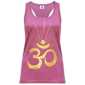 Yogistar Yoga-Racerback-top om Sunray – Rosewine/Gold