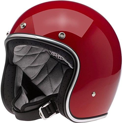 Casco Jet Biltwell Bonanza Helmet Rojo Brillante Gloss Blood Red Cafè Racer Vintage