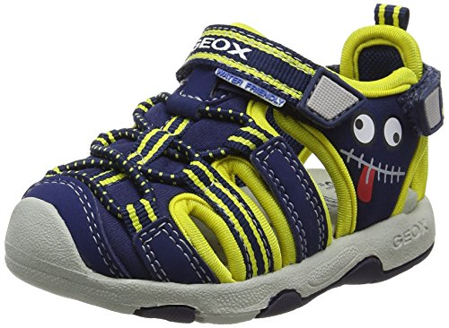 Geox Baby Jungen B Sandal Multy Boy B, Blau (Navy/YELLOWC0657), 24 EU