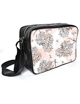 Snoogg Blume Baum Leder Unisex Messenger Bag für College Schule täglichen Gebrauch Tasche Material PU