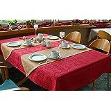 TISCHDECKE eckig in vielen verschiedenen Größen, Farben, Designs, teflonbeschichtet, pflegeleicht in Designs:Classic Farbe: Bordeaux-rot von Odertex