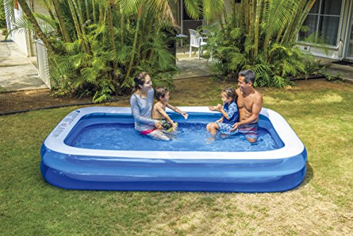 JILONG JL010291-2NPF Inflable Rectangular 1240L Azul, Color Blanco - Piscina (Inflable, Rectangular, 1240 L, Azul, Color Blanco, 6 año(s), 37 cm)