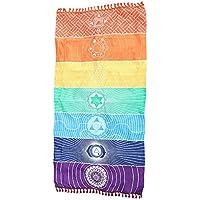SKY Hot Rainbow Beach Mat Tapa Mandala Manta Colgante Tapiz Stripe Toalla Yoga