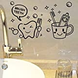 DCGDDP Moderne schöne Kosten Preis Pinsel Zähne niedlichen wohnkultur wandaufkleber Kinder Bad waschraum waschküche Wasserdichte wandbild Kunst