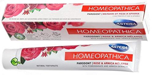 ASTERA Homeopathica Parodont - Zahnpasta mit Rose & Arnica Melange, 75 ml