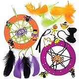 Baker Ross Kits de atrapasueños terroríficos (Pack de 4) para Manualidades y Decoraciones Infantiles de Halloween