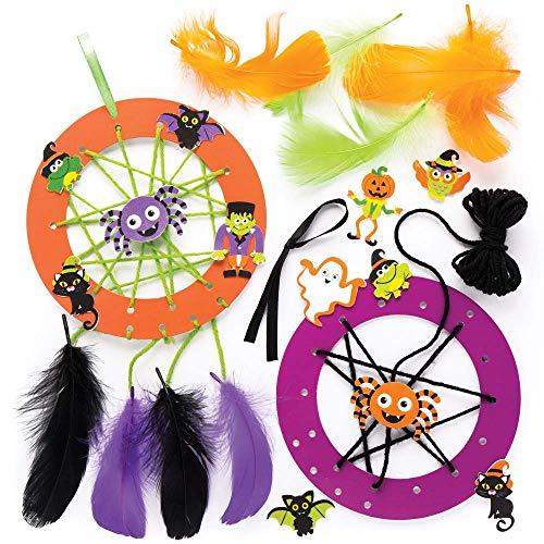 Baker Ross Traumfänger-Bastelsets für Kinder - perfekt für Bastelarbeiten und Dekorationen zu Halloween (4 Stück)