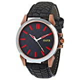 Oura Antik Red-Black Dial Round Casual W...
