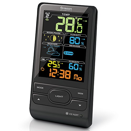 Oregon Scientific BAR208HG Wireless Weather Station with Humidity and Weather Alert - Colour Screen