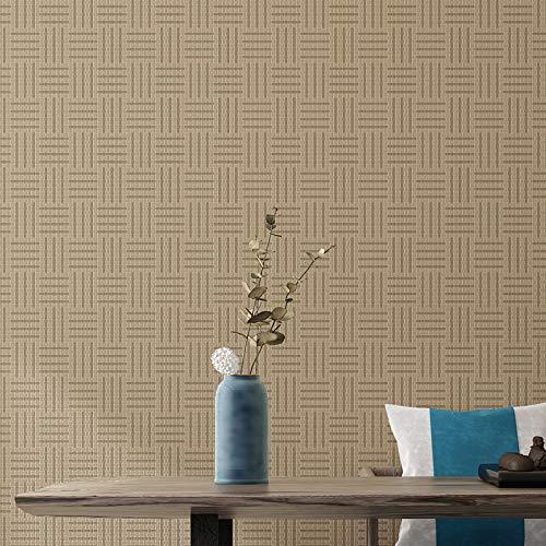 yhyxll Straw Retro einfarbig Tapete japanischen Stil Schlafzimmer Wohnzimmer Hintergrund Wanddekoration Tapete Heimtextilien 3