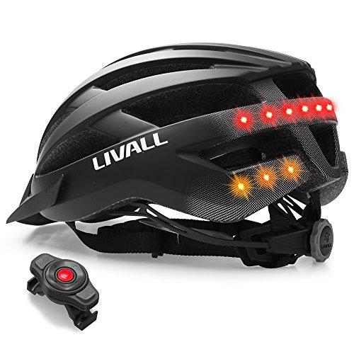 LIVALL Unisex- Erwachsene MT1 Musik, Rücklicht, Blinker, Navigation, Anruffunktion und SOS-System Fahrradhelm, Mattschwarz, 54-58cm