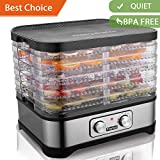 Meykey Food Dehydrator Machine Fruit Dehydrater BPA Free 250W